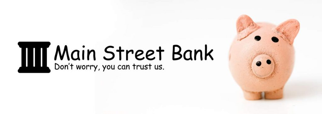 Bank logo in Comic Sans