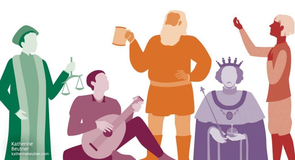 Final Shakespeare illustrations - katherinebeutner.com